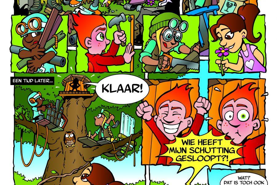 Strip: boomhut bouwen